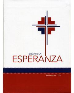 Biblia De La Esperanza - Español (Reina-Valera 1995) Blanco/Rojo Bonded